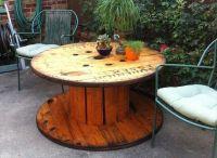 13 DIY Cable Spool Table & Ideas