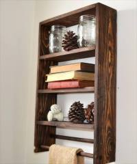 32 DIY Rustic Pallet Shelf Ideas | DIY to Make