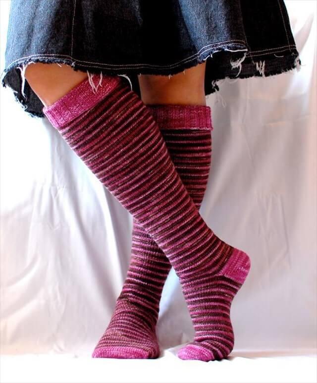 15 Crochet Knit Pattern For Knee Socks  DIY to Make