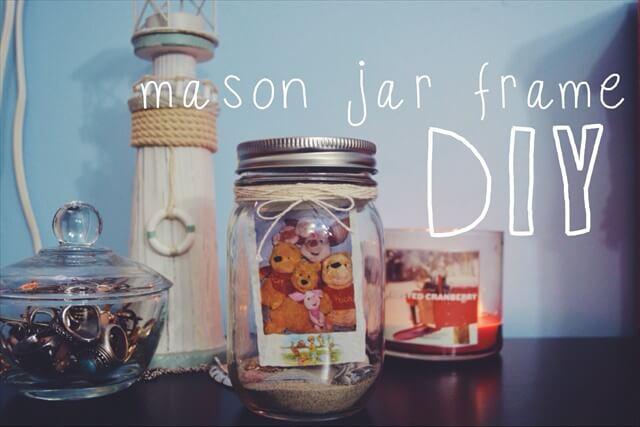 10 DIY Glass Jar Photo Frames Amp Gift Ideas DIY To Make