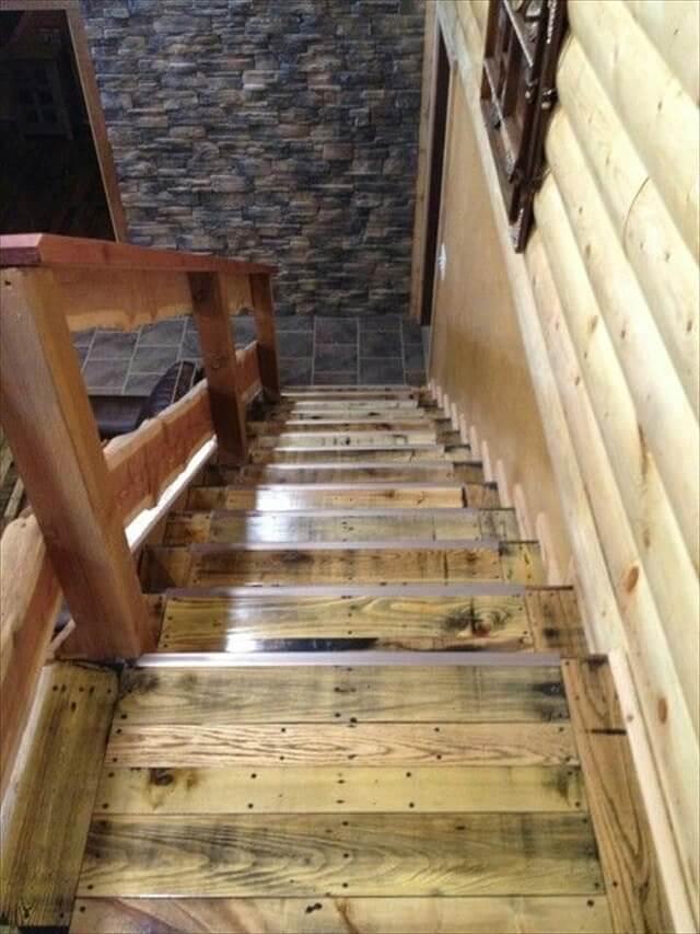 12 DIY Old Pallet Stairs Ideas  DIY to Make