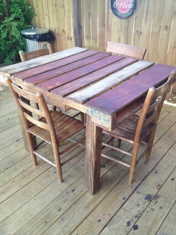 outdoor high top table and chairs set stool chair hong kong 58 diy pallet dining tables   to make
