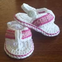 Free Crochet Pattern Baby Flip Flops ~ Dancox for