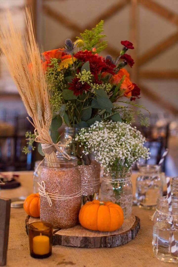 Wedding Table Centerpieces Using Mason Jars Why Santa Claus