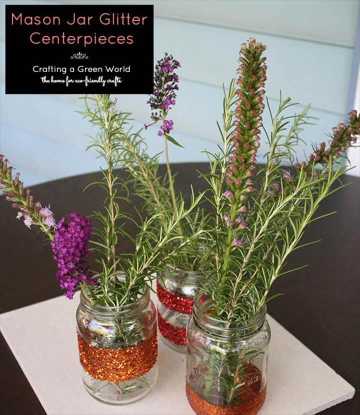 15 Quick  Easy Mason Jar Centerpiece  DIY to Make