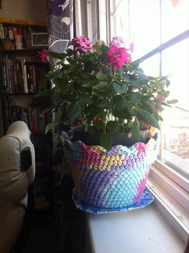 33 Easy Crochet Flower Pot  Plant Cover Ideas  DIY to Make