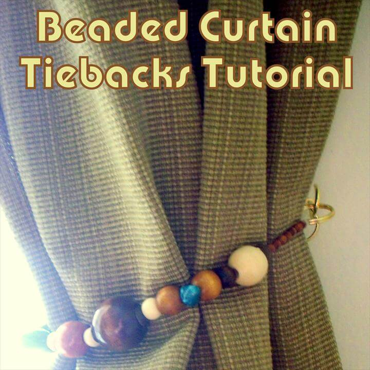 13 brilliant diy curtain tieback tutorials