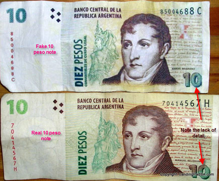 Real and Faked Notes Comparison