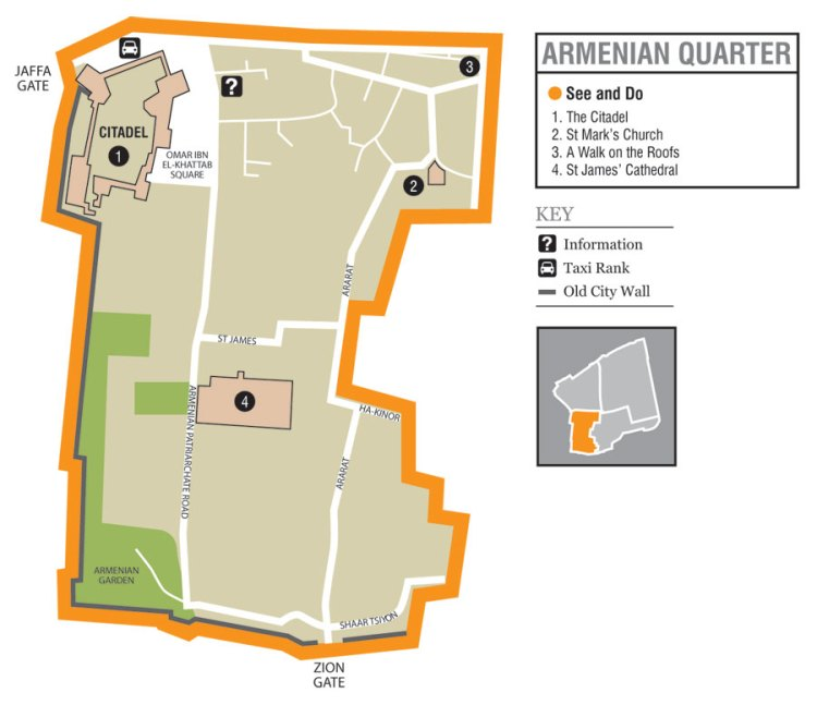 Old Jerusalem Maps of Armenian Quarter