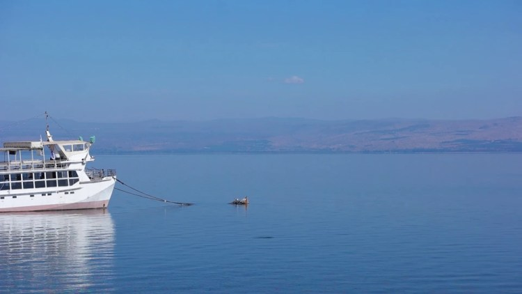Sea of Galilee where it is believe Jesus walked on water