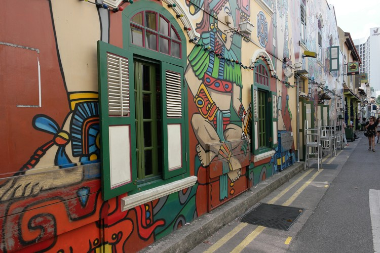 Haji Lane in the Kampong Glam neighbourhood