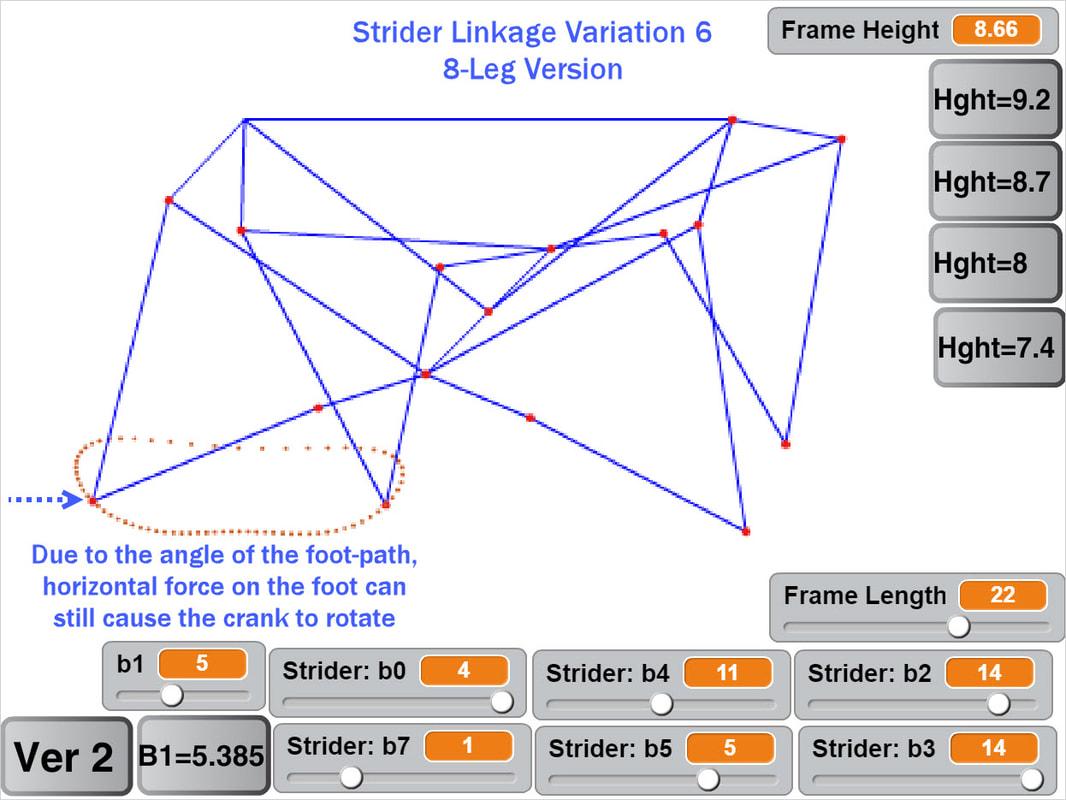 hight resolution of motor less strider ver 2 walking passively