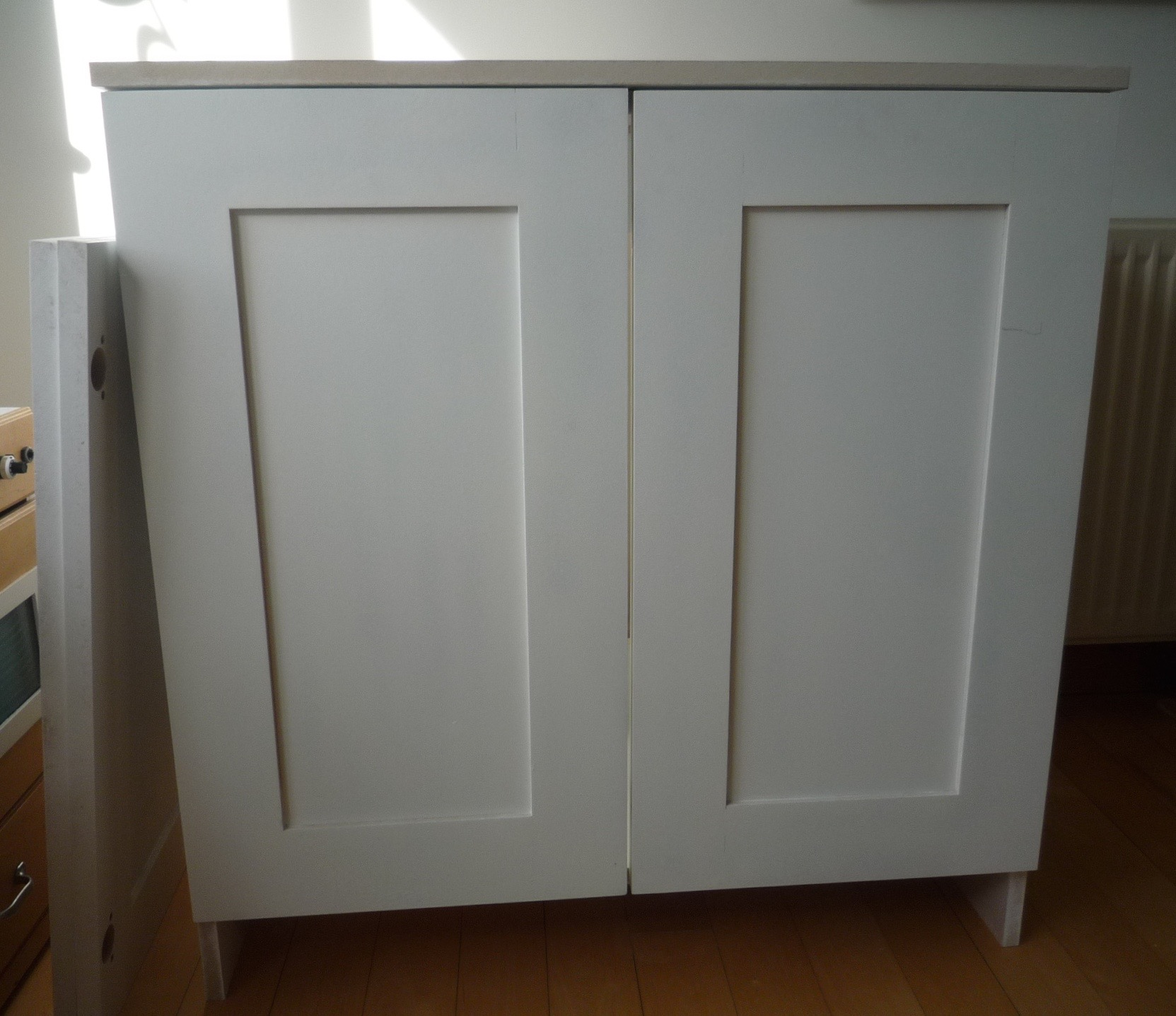 Primed Mdf Cupboards With Shaker Style Doors Part I