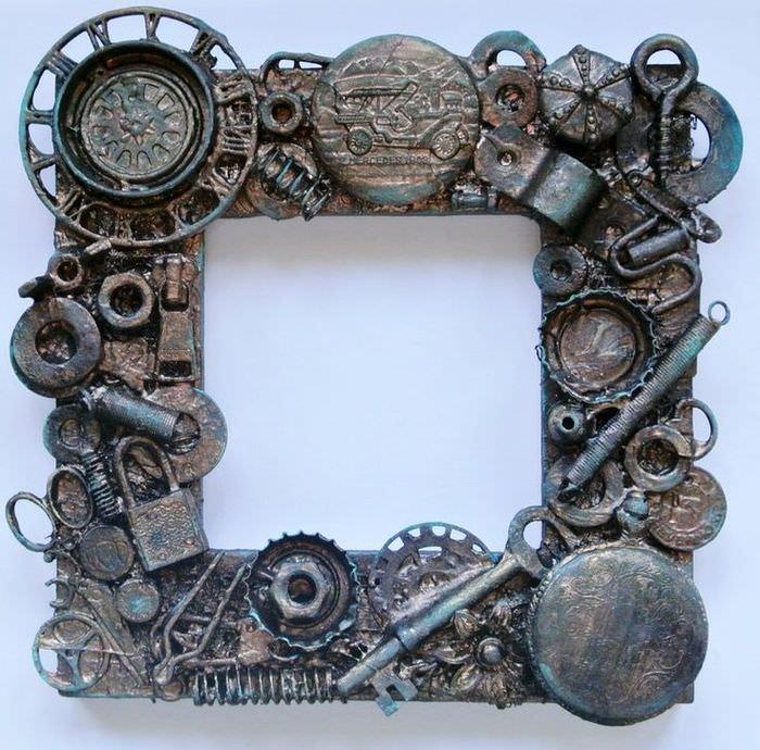 Ramme for speil i Steampunk-stil med egne hender