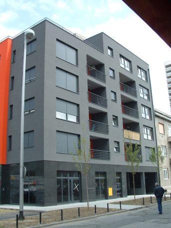 Pročelje stambeno poslovne zgrade pred useljenje