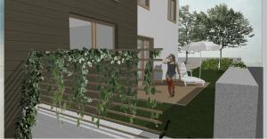 Izlaz iz kuće prema vrtu