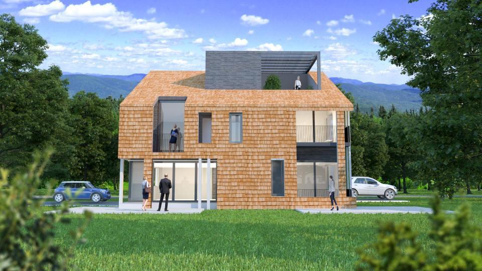 Lička drvena kuća pročelje