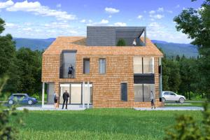 Project for a modern wooden house in Lika