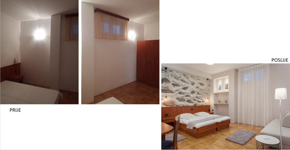 Interijer sobe prije i poslije