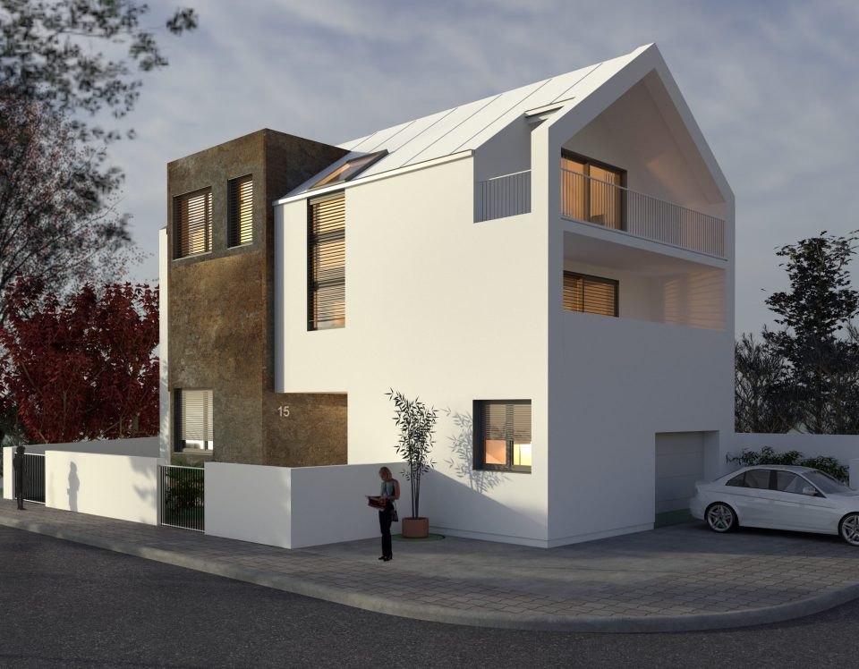 3D prikaz obiteljske kuće u Rudešu