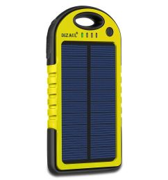 solar charger dizaul 5000mah portable solar power bank waterproof shockproof dustproof dual usb battery bank for cell phone samsung android phones  [ 1200 x 1200 Pixel ]