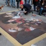 sidewalk artist, Florence