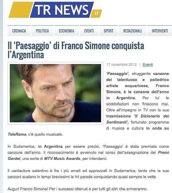 DIZIONARIO DEI SENTIMENTI DI FRANCO SIMONE  News Web On Franco Simone