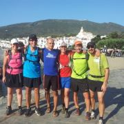 Pablo Rodriguez, and visitors during a Running Costa Brava tour.