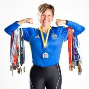 Margaret Webb and Her Running Medals