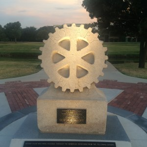 Rotary Statue in the Park
