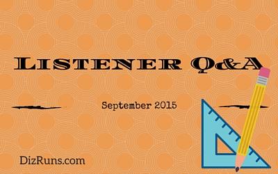 Listener Q&A September 2015