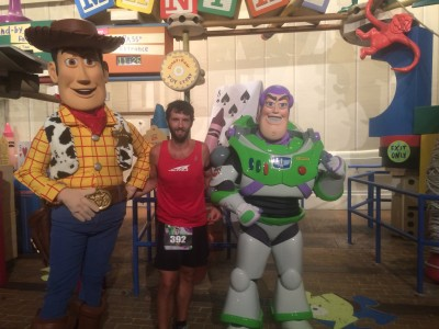 Buzz and Woody at the 2015 Wine and Dine Half Marathon