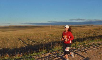 Sally Stilwell Running in the Mainly Marathon Series