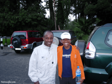 Natalie Mitchell and Gezahegne Abera (2000 Olympic Gold Medalist)