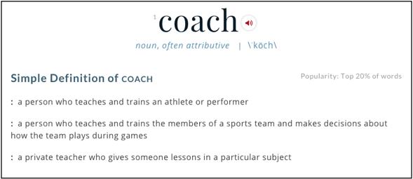 Coach Definition