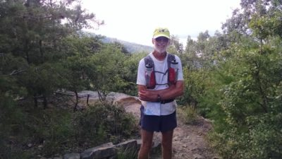 Dallas Smith at the Finish of the Vol State 500k