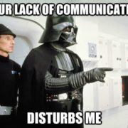 In my World, I'm Leia & Beks is Vader in this situation...