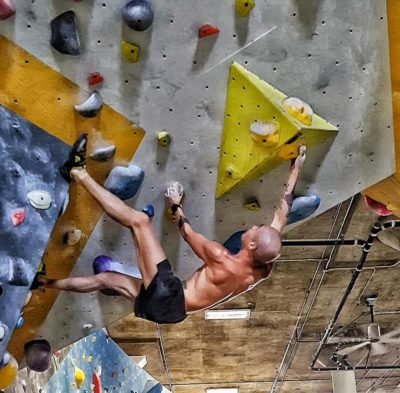 Michael Deza in the Climbing Gym
