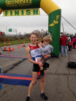 Paige Biglin and Her Son Post Race