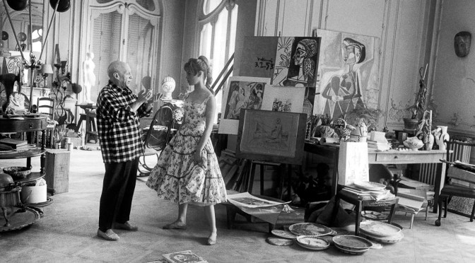 Pablo Picasso og Birgitte Bardot.