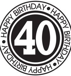 40th birthday clipart for men for kids  [ 900 x 900 Pixel ]