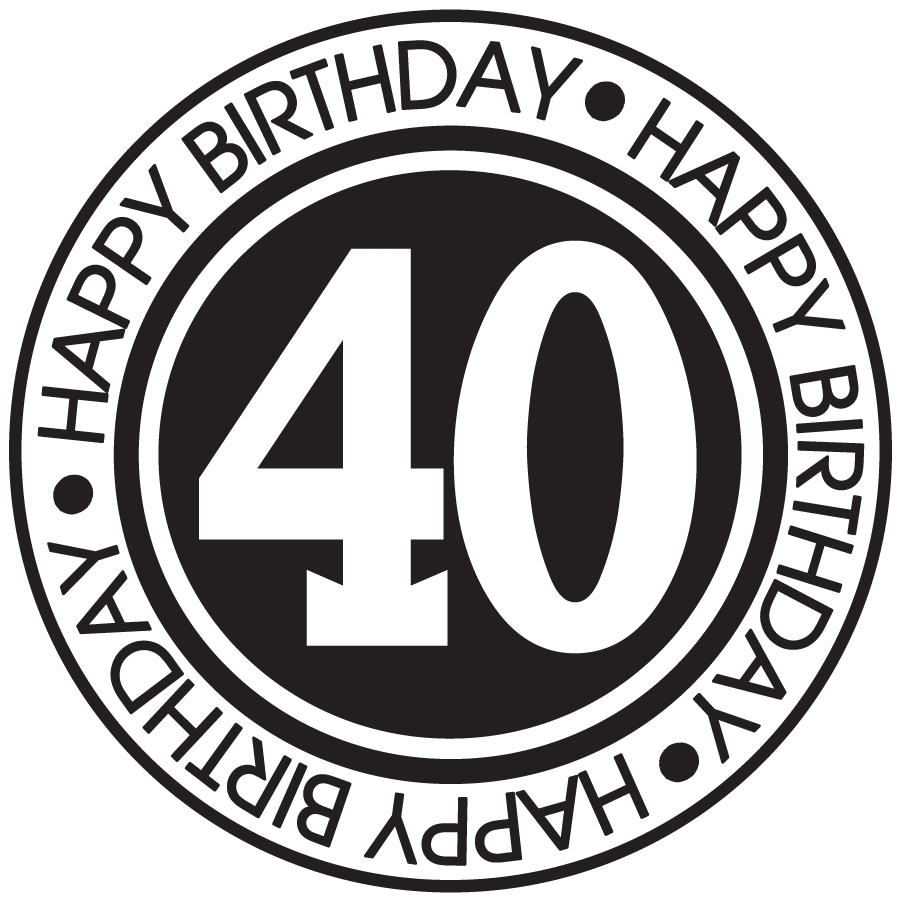 hight resolution of  40th birthday clipart for men for kids