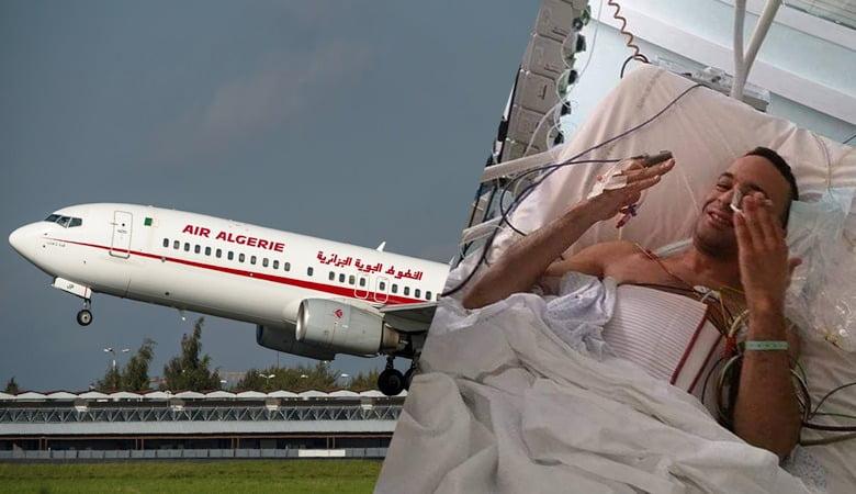 صورة لحسن في طائرة خاصة  إلى الجزائر