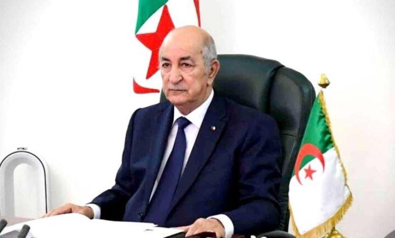 صورة تبون يتوجه برسالة شكر للشعب الجزائري