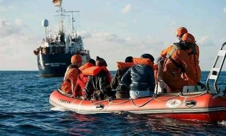 صورة وصول 30 قارب على متنهم حراقة جزائريين على السواحل الاسبانية