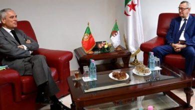 صورة الناطق الرسمي للحكومة وزير الإتصال يستقبل سفير البرتغال