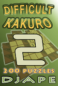 Difficult Kakuro book, volume 2