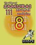 Samurai Sudoku book, volume 8