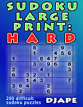 Sudoku LARGE PRINT Hard book