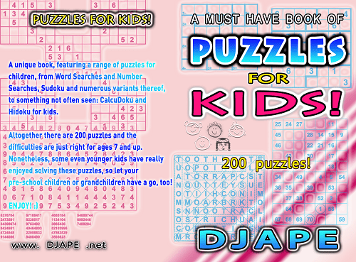 Puzzles for children book